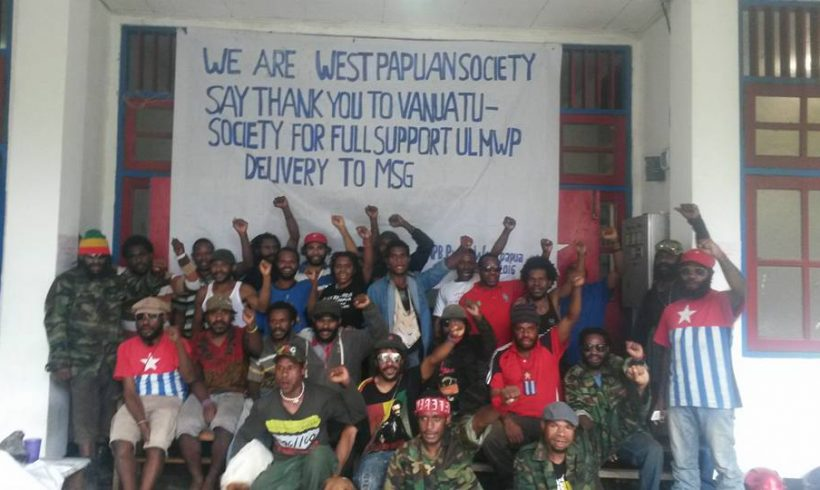 West-Papuans-demonstrate-in-support-of-Vanuatu-supporting-them-for-full-MSG-membership
