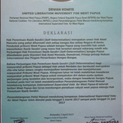 ULMWP Board Committee in West Papua endorses the self-determination petition