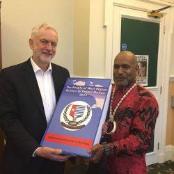 ULMWP Spokesperson presents West Papuan People's Petition to Jeremy Corbyn