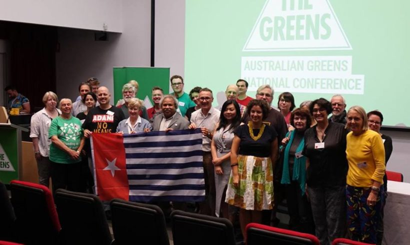 Australian green party conference passes resolution to support self determination for West Papua